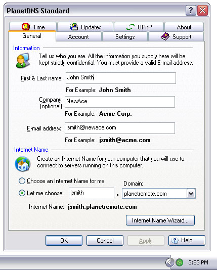 PlanetDNS Client Screenshot