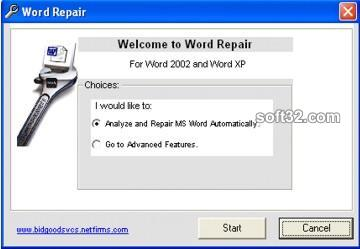 Word Error Repair Screenshot 2