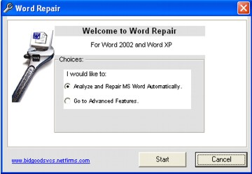 Word Error Repair Screenshot 1