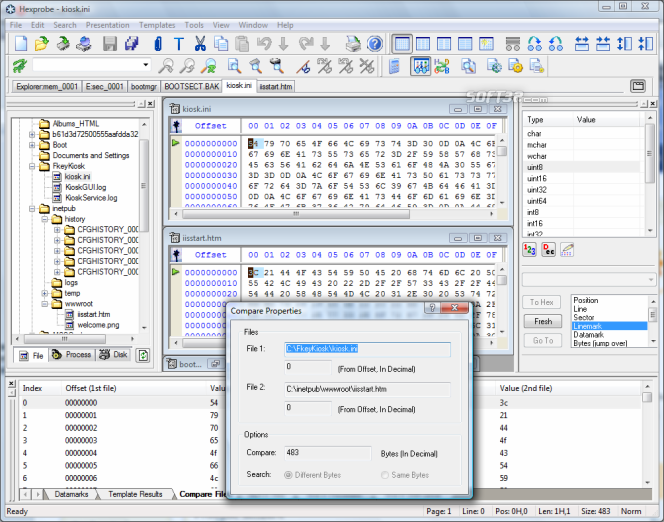 Hexprobe Hex Editor Screenshot 3
