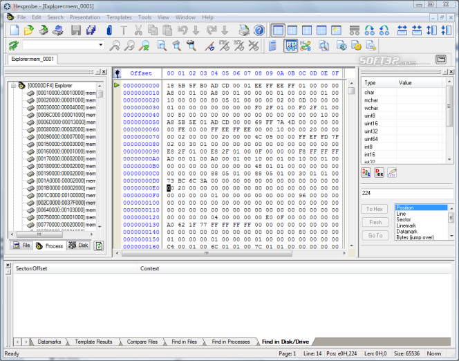 Hexprobe Hex Editor Screenshot 7