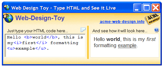Web-Design-Toy Screenshot
