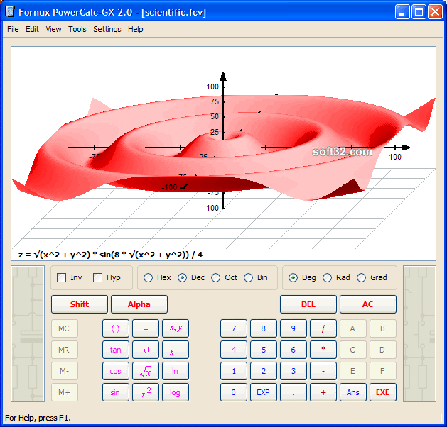Fornux PowerCalc-GX Student Edition Screenshot 2