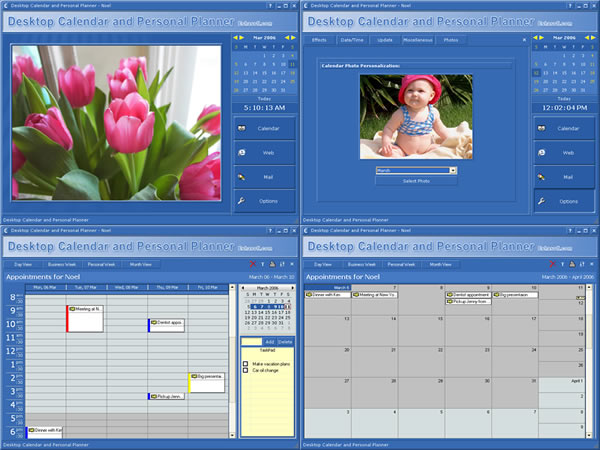 Desktop Calendar and Personal Planner Screenshot