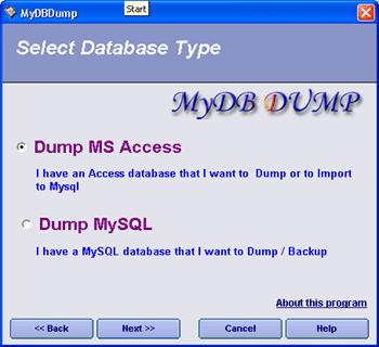 MyDbDump pro Screenshot