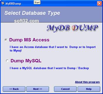 MyDbDump pro Screenshot 2
