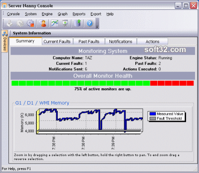 Server Nanny Network Monitor Screenshot
