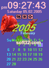 Desktop Clock Valentine's Edition Screenshot