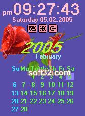 Desktop Clock Valentine's Edition Screenshot 1