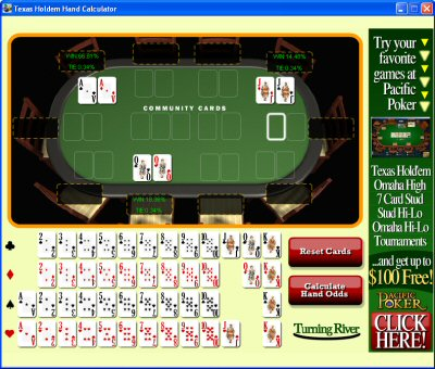 Texas Holdem Hand Calculator Screenshot 1