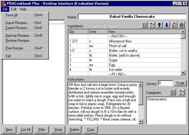 PDACookbook Plus Screenshot 3