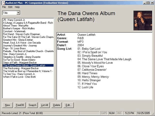 AudioList Plus Screenshot