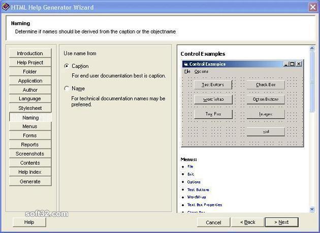 Help Generator for Visual Basic 6.0 Screenshot 2