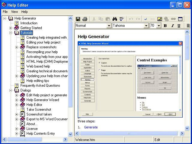 Help Generator for Visual Basic 6.0 Screenshot