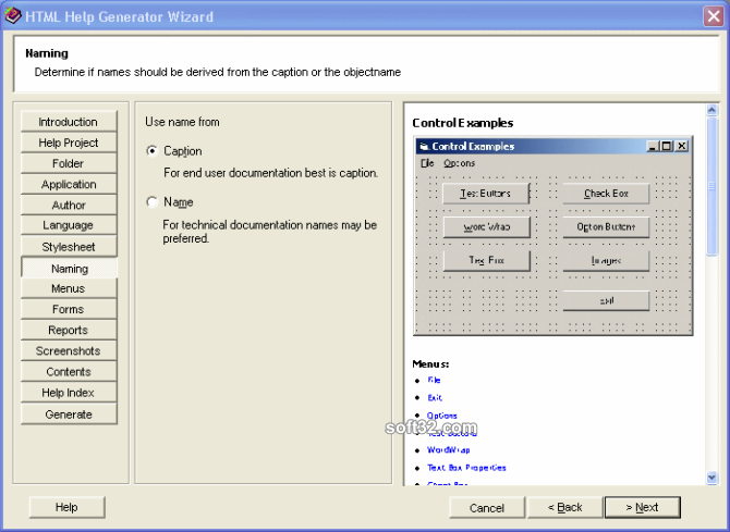 Help Generator for Microsoft Access Screenshot 3
