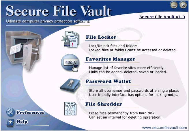 Secure File Vault Screenshot