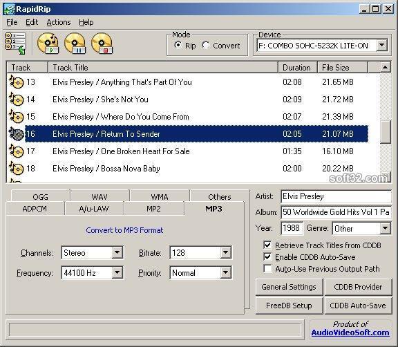 AudioVideoSoft RapidRip Screenshot 2