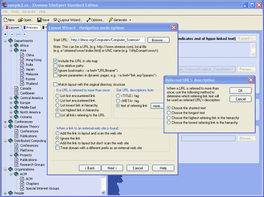 Xtreeme SiteXpert Standard Edition Screenshot