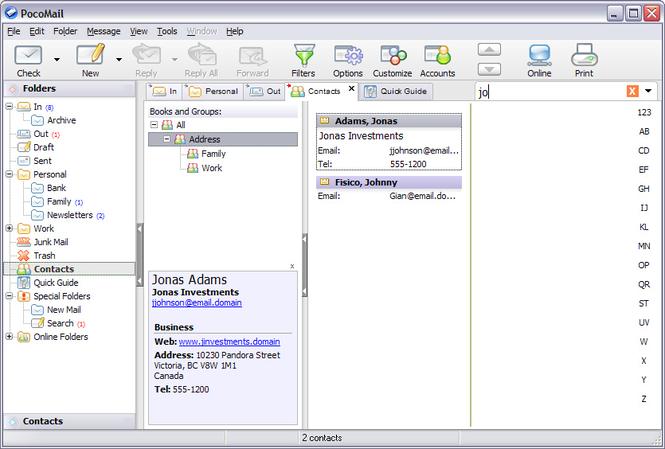 PocoMail Screenshot