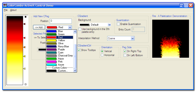 ColorCombo ActiveX Control Screenshot