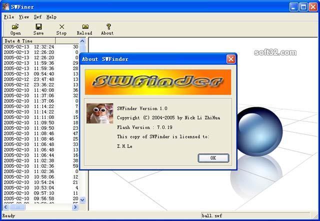 SWFinder Screenshot