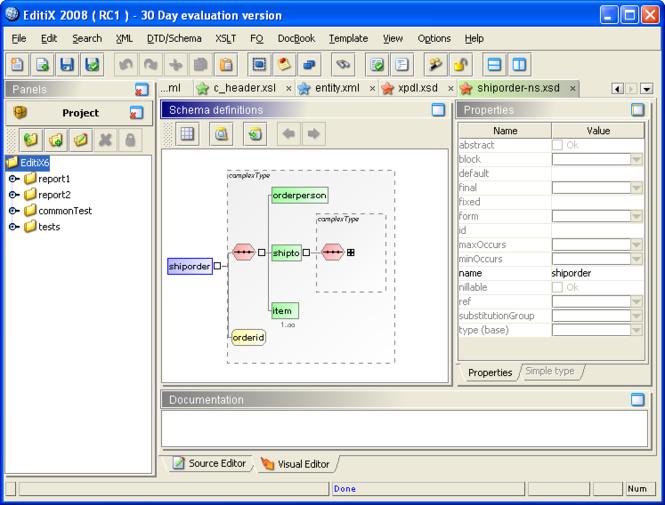 EditiX XML Editor (for Windows / Java VM) Screenshot 1