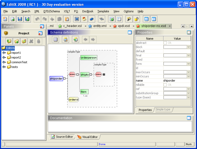 EditiX XML Editor (for Linux/Unix) Screenshot
