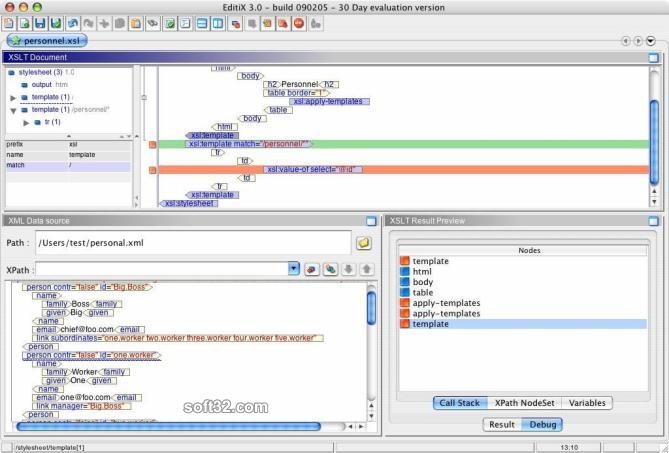 EditiX XML Editor (for Mac OS X) Screenshot 3