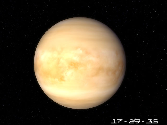 Planet Venus 3D Screensaver Screenshot 1