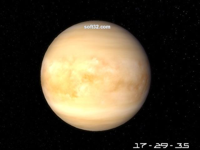 Planet Venus 3D Screensaver Screenshot 3