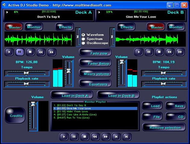 Active DJ Studio Screenshot