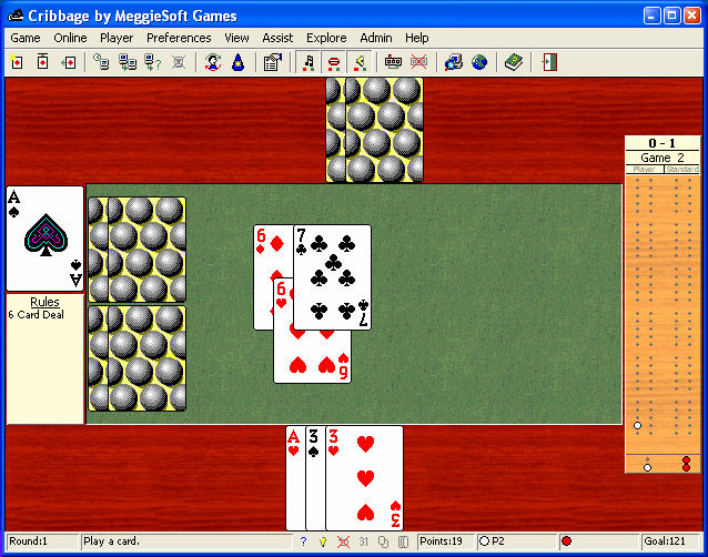 Cribbage by MeggieSoft Games Screenshot 1