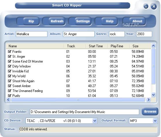 #1 Smart CD Ripper PRO Screenshot 3
