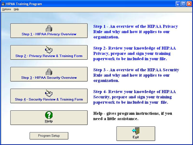HIPAA Training Program Screenshot 1