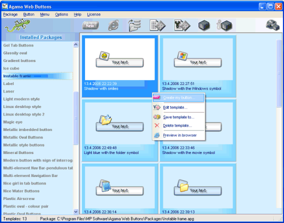 Agama Web Buttons Screenshot 1