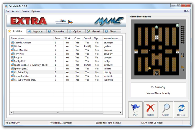ExtraMAME 2009 Screenshot