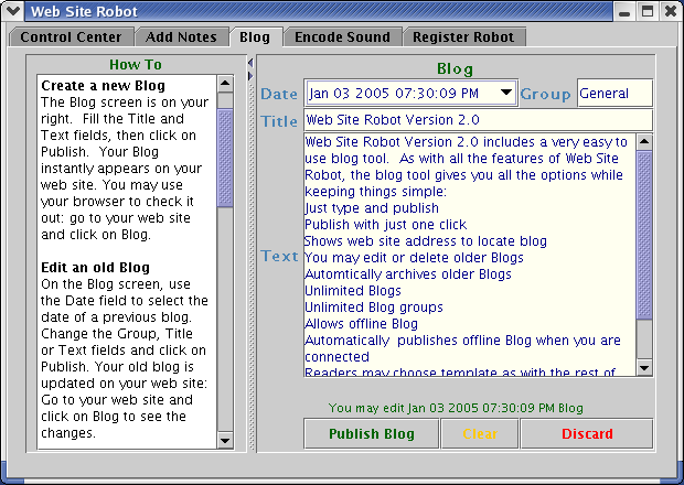 Web Site Robot Screenshot 1