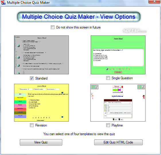 multiple choice quiz maker Baixe o multiple choice quiz maker gratuito confiável para windows (pc) livre de vírus e 100% limpo obtenha alternativas de download para multiple choice quiz maker.