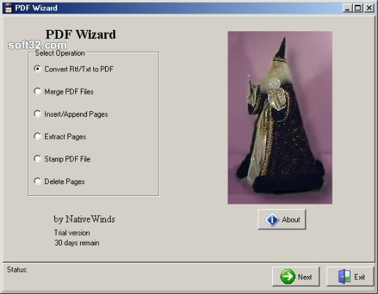 PDF Wizard Screenshot 1