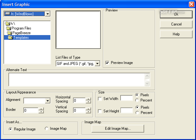 PageBreeze Free HTML Editor Screenshot 2