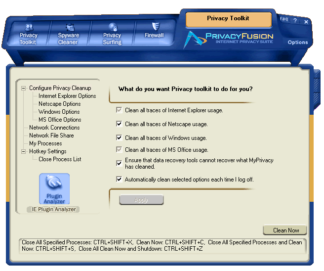 Privacy Fusion Screenshot