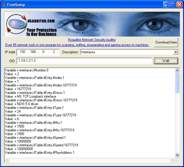 FreeSnmp Screenshot 1