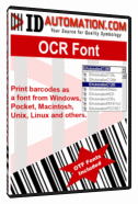 IDAutomation OCR-A and OCR-B Font Package Screenshot
