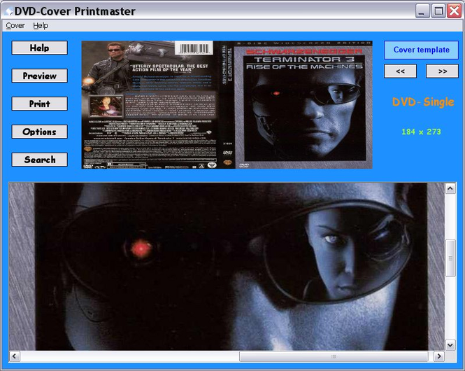 DVD-Cover Printmaster Screenshot 1