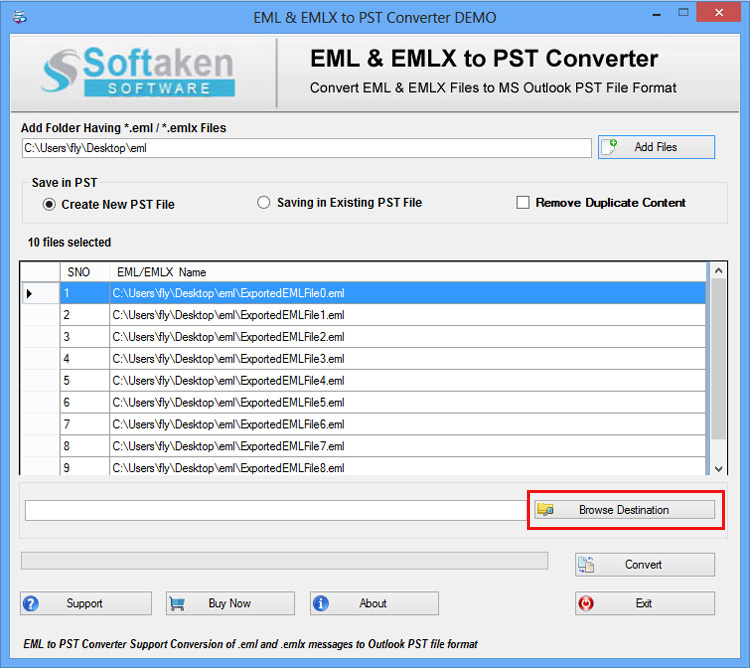 FileFix Spicebird Mail to PST Converter Screenshot