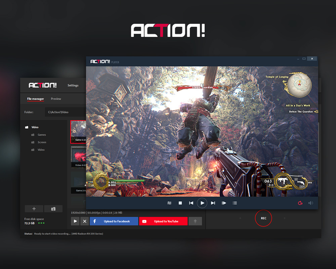 Action! - Screen and game recorder Screenshot 1