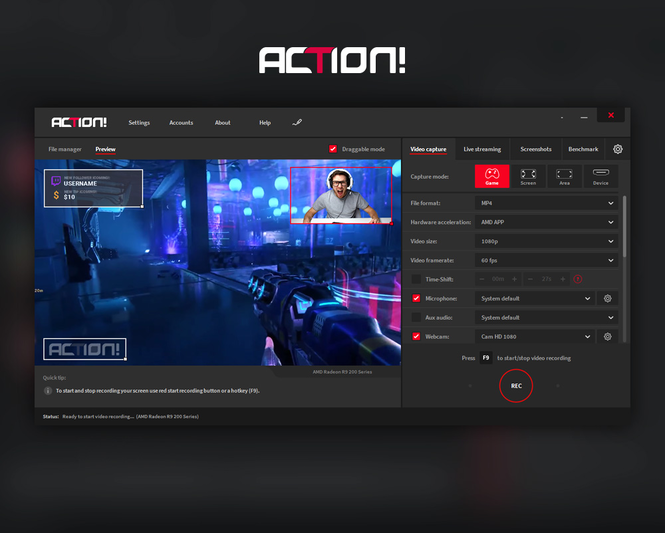 Action! - Screen and game recorder Screenshot 3