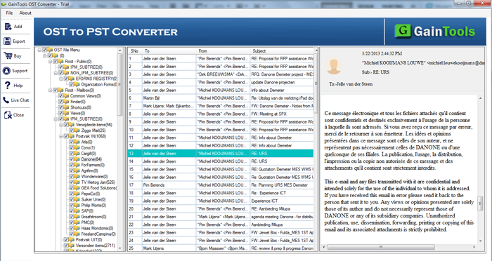 GainTools OST to PST Converter Screenshot