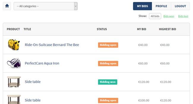 PHP Auction Script Screenshot 3