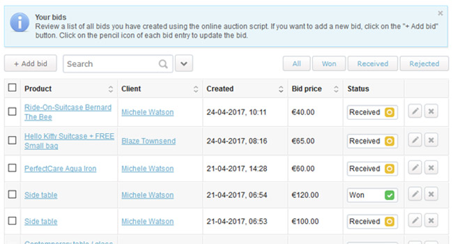 PHP Auction Script Screenshot 8